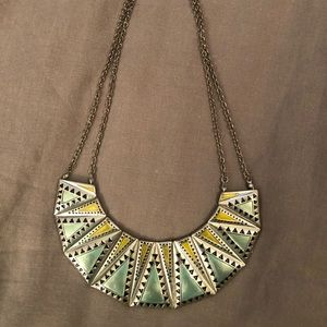 Silver painted necklace